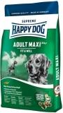 HAPPY DOG SUPREME Fit & Well  ADULT MAXI 3x15kg + DOPRAVA ZDARMA+Dental Snacks!