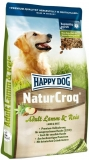 HAPPY DOG NaturCroq Lamm&Reis 15kg + DOPRAVA ZDARMA+Dental Snacks!