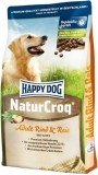 HAPPY DOG NaturCroq Rind & Reis 15kg + DOPRAVA ZDARMA+Dental Snacks!