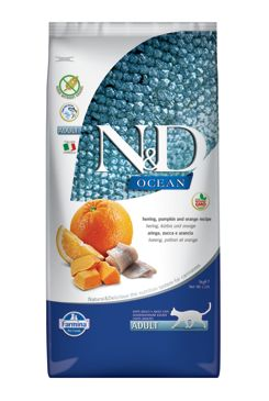 N&D OCEAN CAT Adult Herring, Pumpkin & Orange 2x5kg