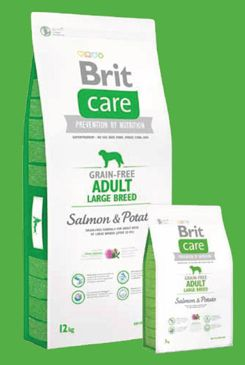 Brit Care Dog Grain-free Adult LB Salmon & Potato 3x12kg+DOPRAVA ZDARMA+SNACKS!