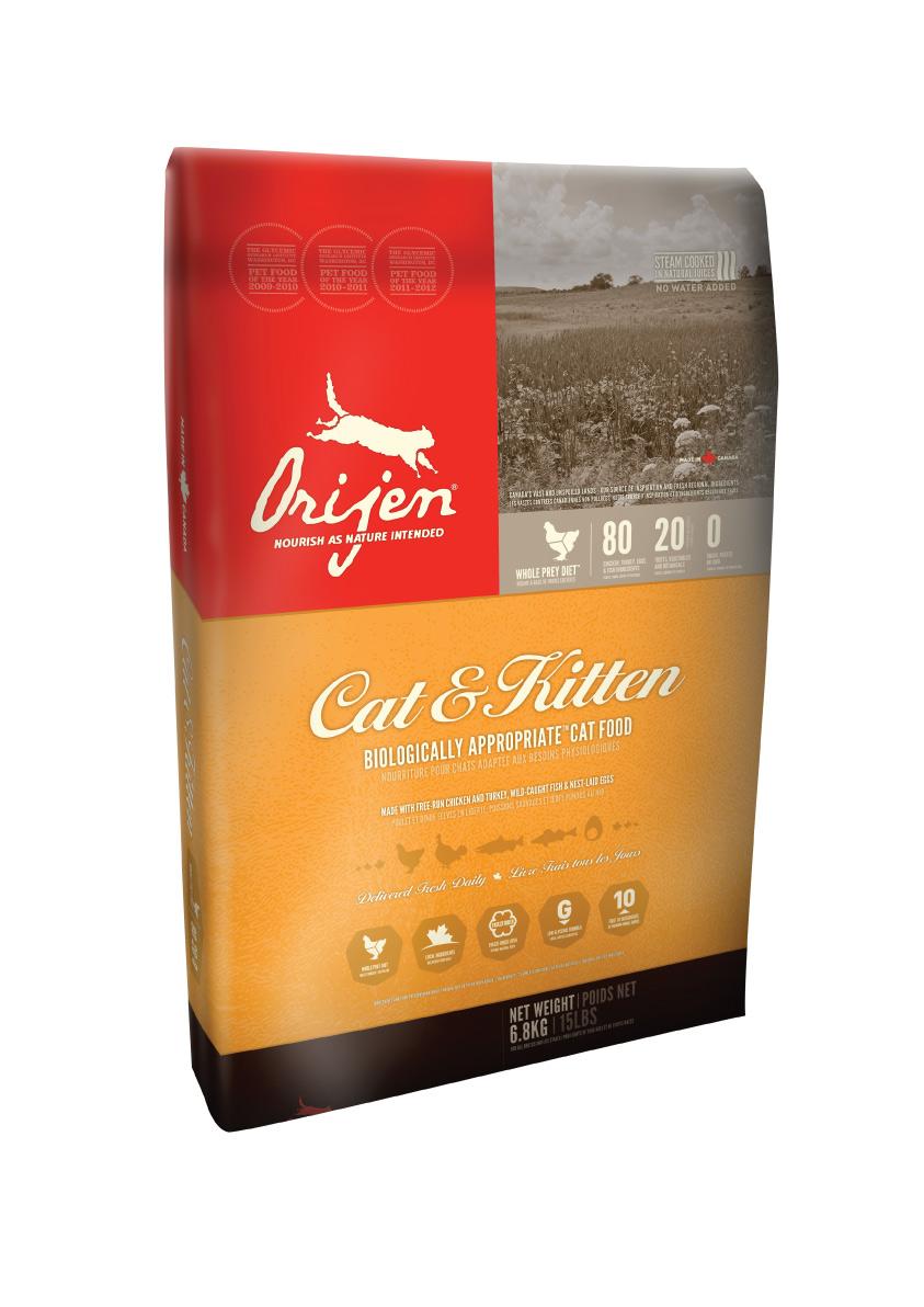 ORIJEN Cat + Kitten 2x6,8 kg + DOPRAVA ZDARMA! (+2% SLEVA PO REGISTRACI/PŘIHLÁŠENÍ)