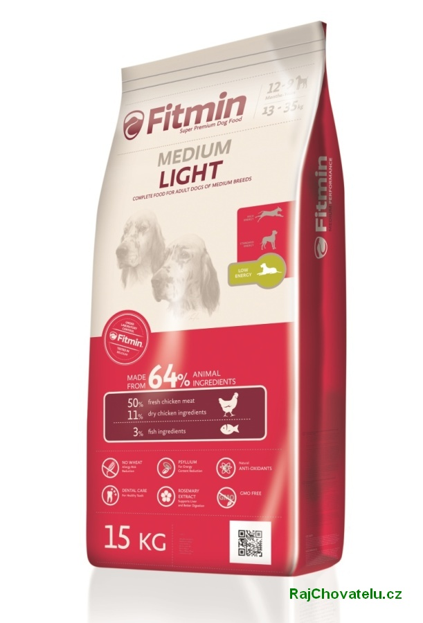 Fitmin dog medium light 3 x 15kg+DOPRAVA ZDARMA+1x masíčka Perrito!