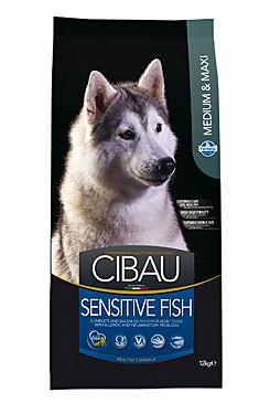 CIBAU Dog Adult Sensitive Fish Medium & Maxi 12KG+DOPRAVA ZDARMA+ SNACKS (+ 2% SLEVA PO REGISTRACI / PŘIHLÁŠENÍ!)