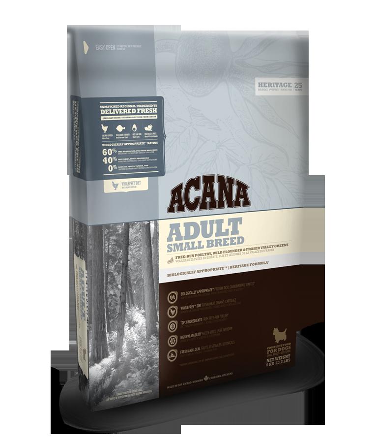 ACANA DOG Adult Small Heritage 2x6kg+DOPRAVA ZDARMA+2xDental Snacks! (-nová receptura 2016, sleva po registraci/přihlášení!)