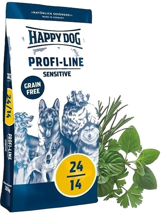HAPPY DOG PROFI-LINE 24-14 SENSITIVE Grain Free 2x20kg+SLEVA+2xSnack+DOPRAVA ZD.