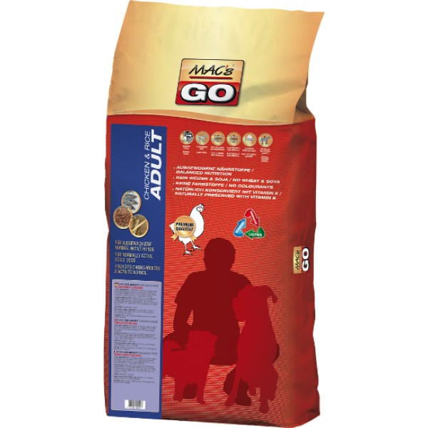 MACs Dry GO Dospělý Kuře & Rýže 12 kg