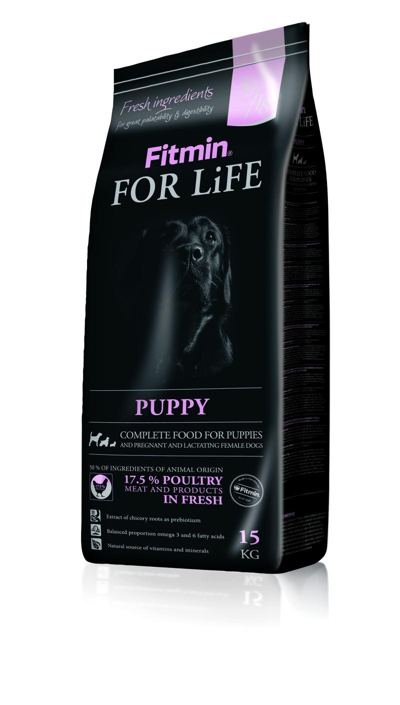 Fitmin dog For Life Puppy 15kg + Fitmin SNAX + DOPRAVA ZDARMA! (+ SLEVA PO REGISTRACI / PŘIHLÁŠENÍ!)