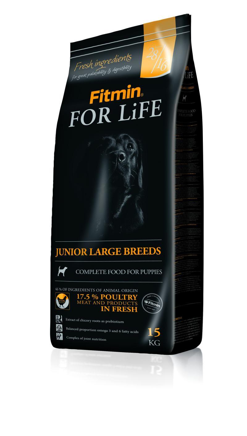 Fitmin dog For Life Junior Large 3x15kg + 3x Fitmin SNAX + DOPRAVA ZDARMA! (+ SLEVA PO REGISTRACI / PŘIHLÁŠENÍ!)