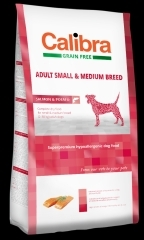 Calibra Dog GF Adult Medium & Small Salmon 12kg + DOPRAVA ZDARMA