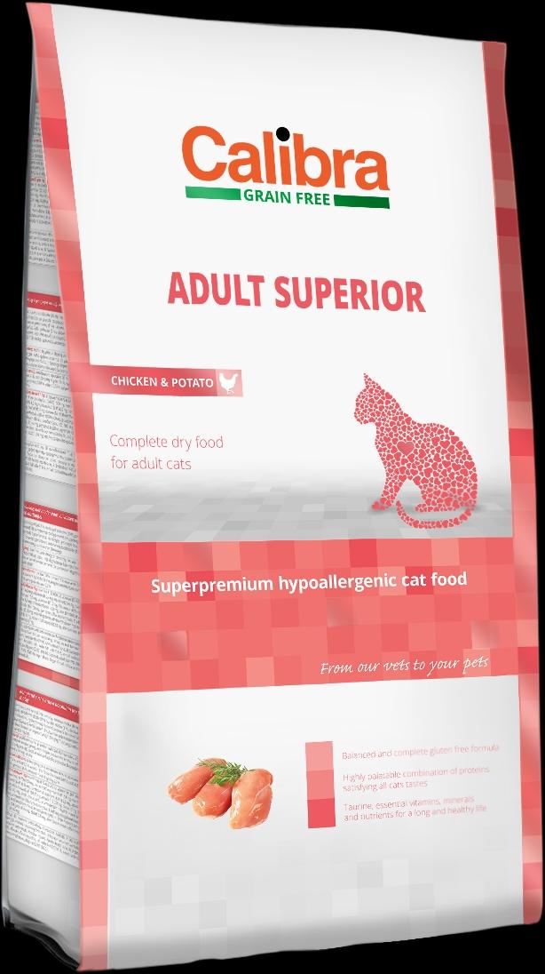 Calibra Cat GF Adult Superior Chicken&Salmon 3x7kg NEW+DOPRAVA ZDARMA (+SLEVA PO REGISTRACI/PŘIHLÁŠENÍ)