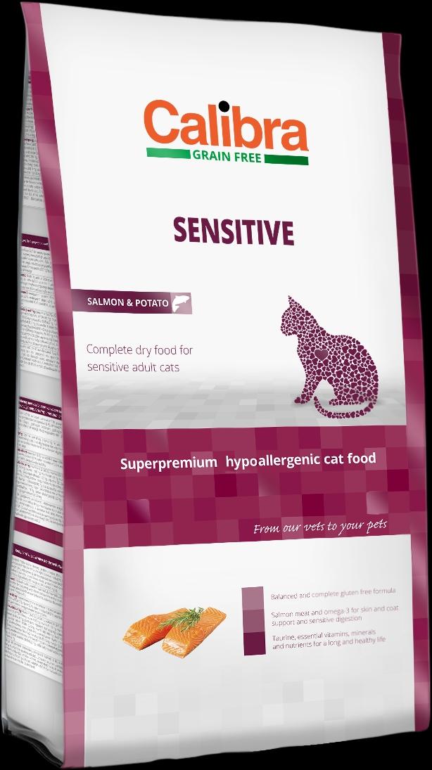Calibra Cat GF Sensitive Salmon 3x7kg NEW+DOPRAVA ZDARMA (+SLEVA PO REGISTRACI/PŘIHLÁŠENÍ)