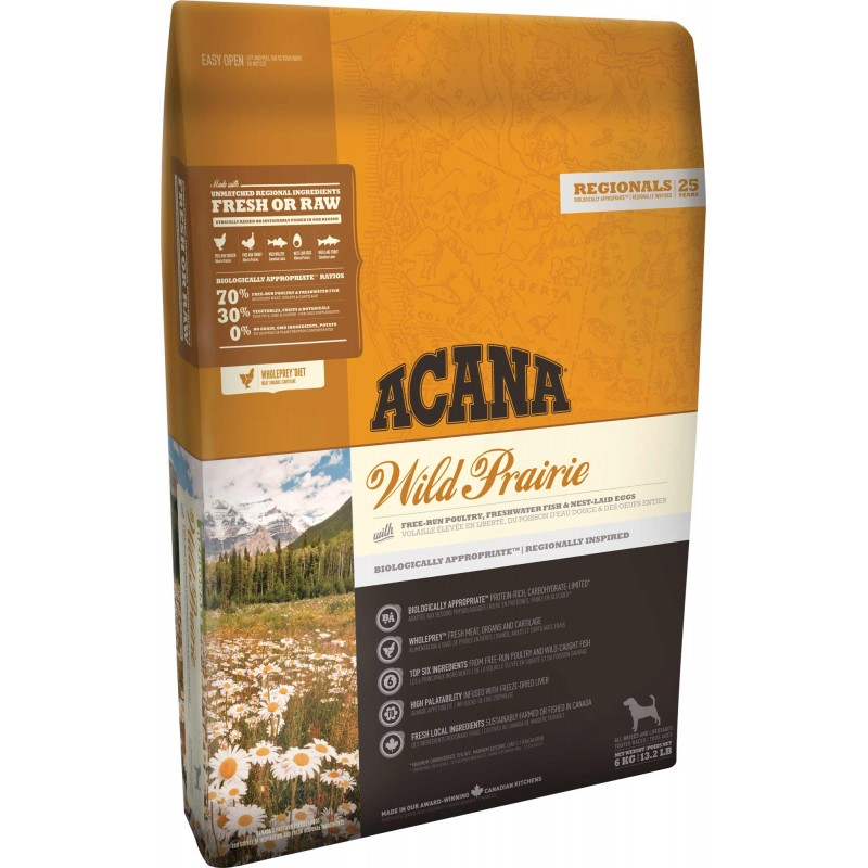 ACANA REGIONALS Wild Prairie Dog 2x11,4 kg+DOPRAVA ZDARMA+2x Dental Snacks!