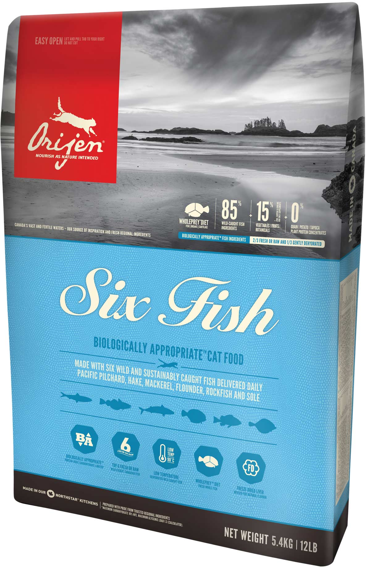 ORIJEN 6 Fish Cat 3 x 5,4 kg