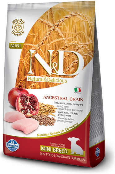 N&D LG DOG Puppy Mini Chicken & Pomegranate 2 x 7 kg