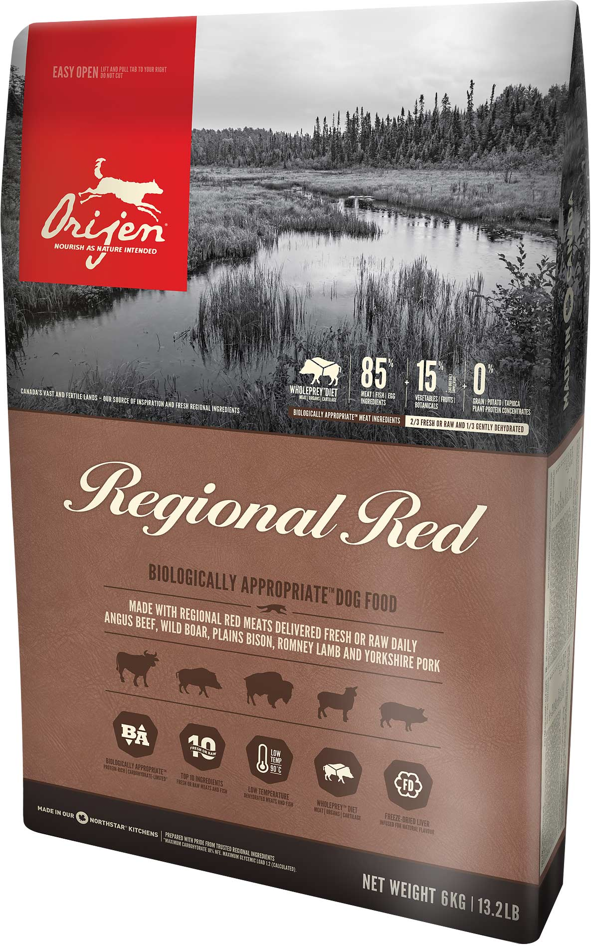 ORIJEN Dog Regional Red 2 x 11,4kg + DOPRAVA ZDARMA+1x Dental Crazy Snack!