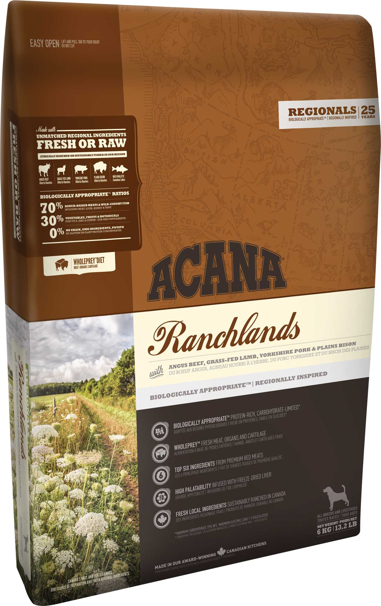 Acana Dog Regionals Ranchlands 2 x11,4 kg + DOPRAVA ZDARMA+2x Dental Snacks!