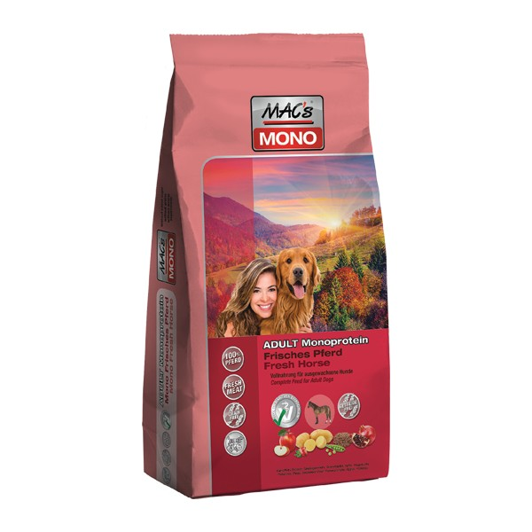 Macs Dry Dog MONO KOŇSKÉ MASO a brambory 2 x 12 kg