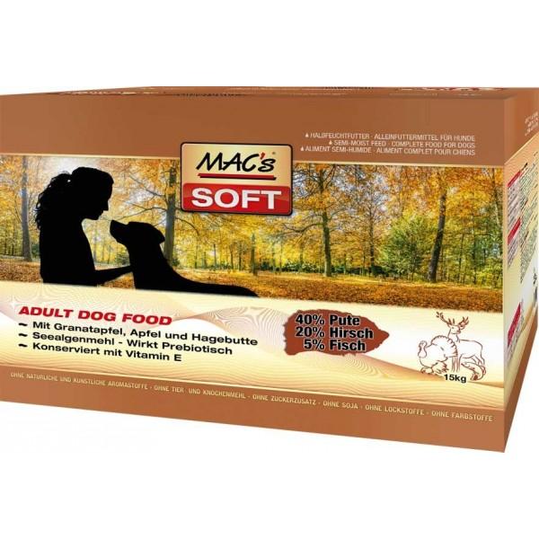 MACs SOFT Dog KRŮTA A ZVĚŘINA 3 x 15kg