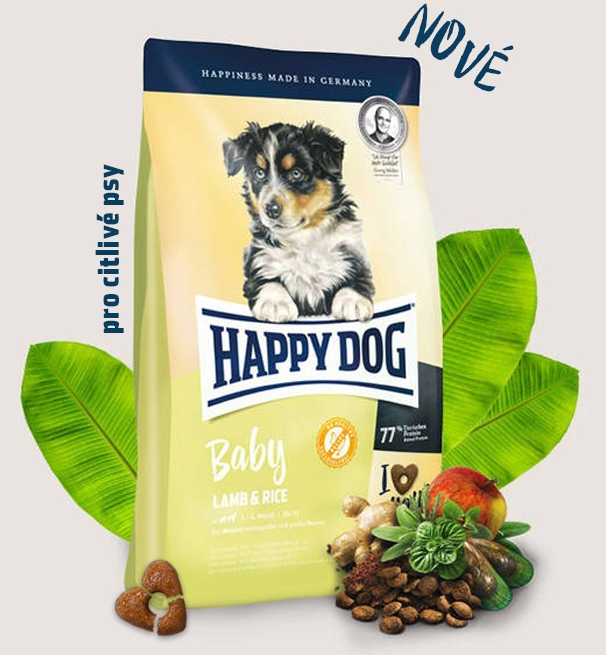 HAPPY DOG Junior Lamb & Rice 10kg + DOPRAVA ZDARMA+1x masíčka Perrito!