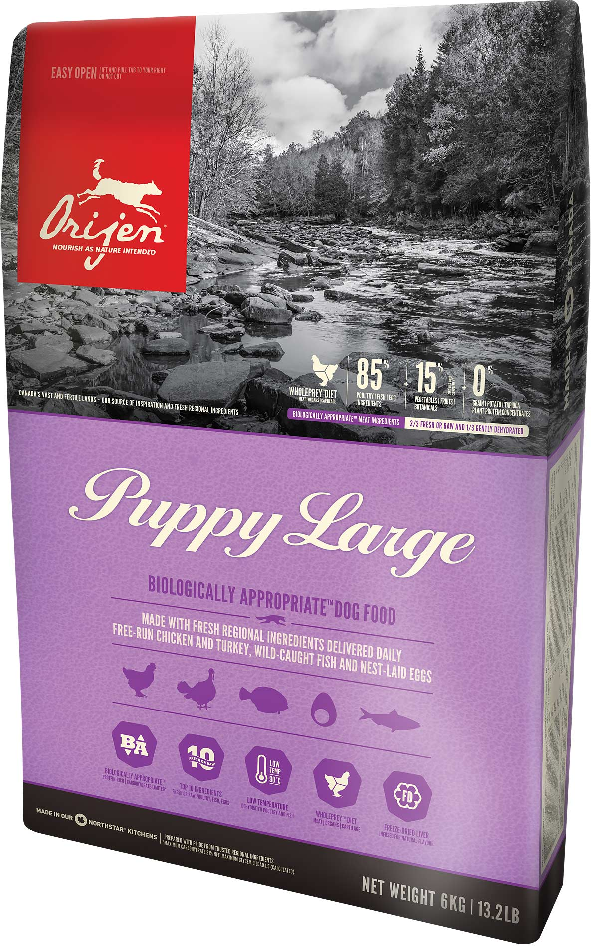 ORIJEN Dog Puppy Large 3 x 11,4kg + DOPRAVA ZDARMA+1x Dental Crazy Snack!