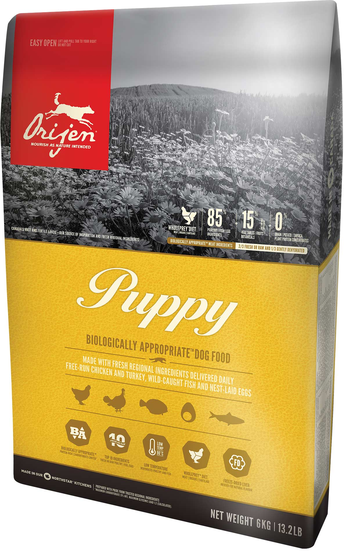 ORIJEN Dog Puppy 3x11,4kg + DOPRAVA ZDARMA+1x Dental Crazy Snack!