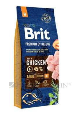 Brit Premium Dog by Nature Adult M 3 x 15kg + DOPRAVA ZDARMA!!!