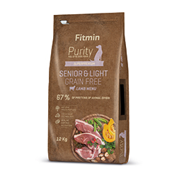 Fitmin dog Purity GF Senior & Light Lamb 3 x 12 kg+ DOPRAVA ZDARMA+ 1x Fitmin Snax!
