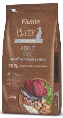 Fitmin dog Purity Rice Adult Fish & Venison 2x12 kg+ DOPRAVA ZDARMA+ 1x Fitmin Snax!