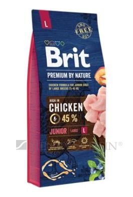 Brit Premium Dog by Nature Junior L 3 x 15 kg + DOPRAVA ZDARMA!