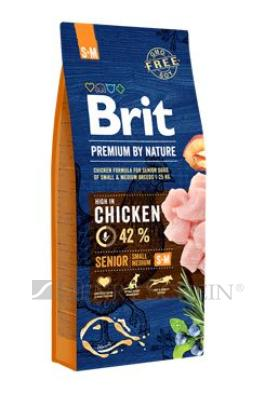 Brit Premium Dog by Nature Senior S+M 3 x 15kg + DOPRAVA ZDARMA!