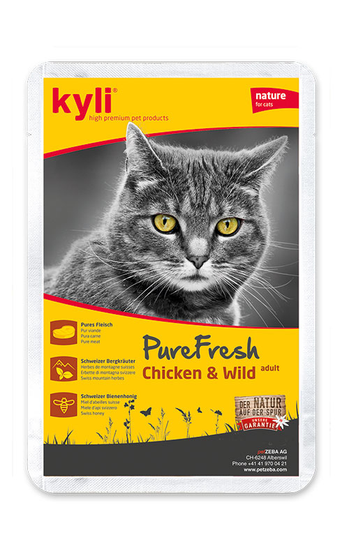 Kyli PureFresh Chicken & Wild 12x85 g kapsička