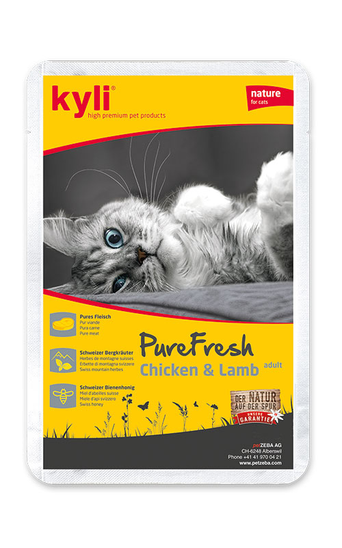 Kyli PureFresh Chicken & Lamb 12 x 85 g kapsička