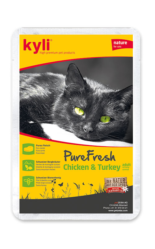 Kyli PureFresh Chicken & Turkey 12 x 85g kapsička
