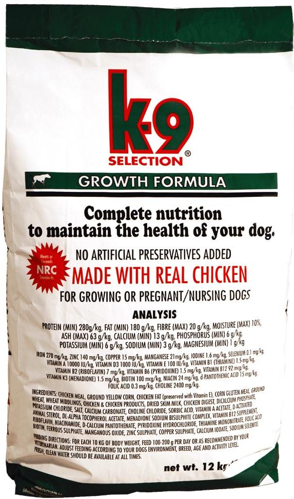 K-9 Selection Growth 12kg+1kg K-9+DOPRAVA ZDARMA+ Snacks+K-9 dárek! (+1KG ZDARMA (receptura dle sklad.zásob) + 2% SLEVA PO REGISTRACI/PŘIHLÁŠENÍ. K-9 DÁREK NA VÝBĚR!)