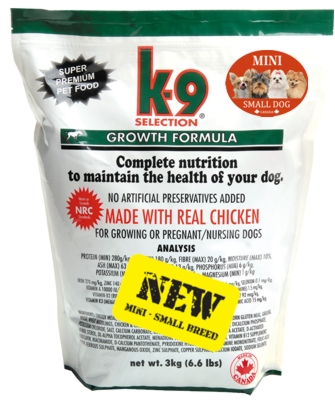 K-9 Selection Growth Small Breed 2 x 3 kg