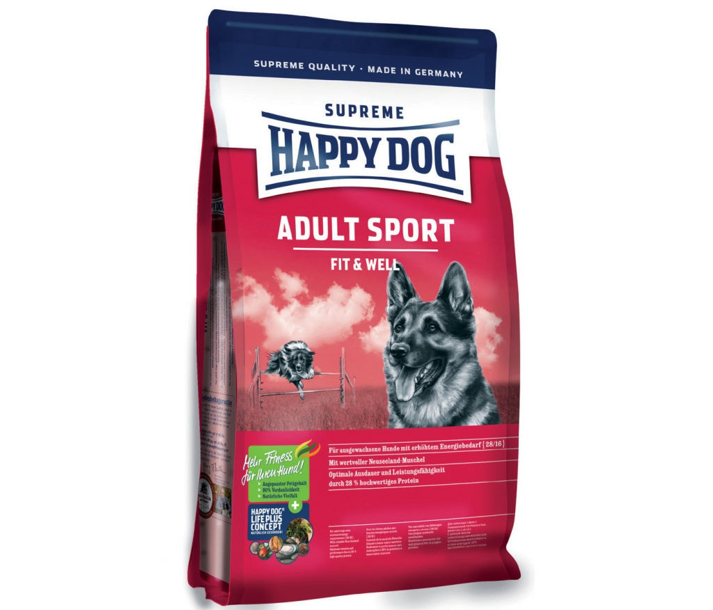 Happy Dog Supreme Fit & Well Adult Sport 2x15kg + DOPRAVA ZDARMA+Dental Snacks! (+SLEVA PO REGISTRACI/PŘIHLÁŠENÍ! ;))