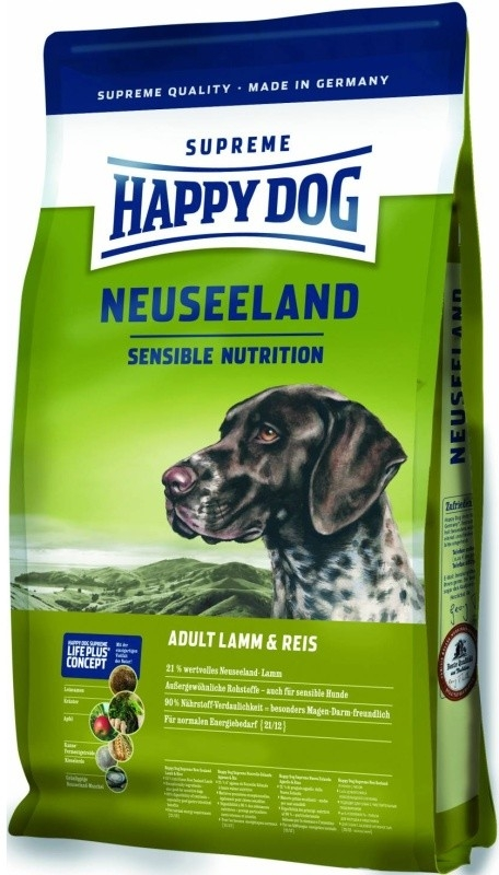 HAPPY DOG SUPREME Neuseeland Lamb&Rice 3x12.5kg + DOPRAVA ZDARMA+Dental Snacks! (+ 2% SLEVA PO REGISTRACI/PŘIHLÁŠENÍ! ;))