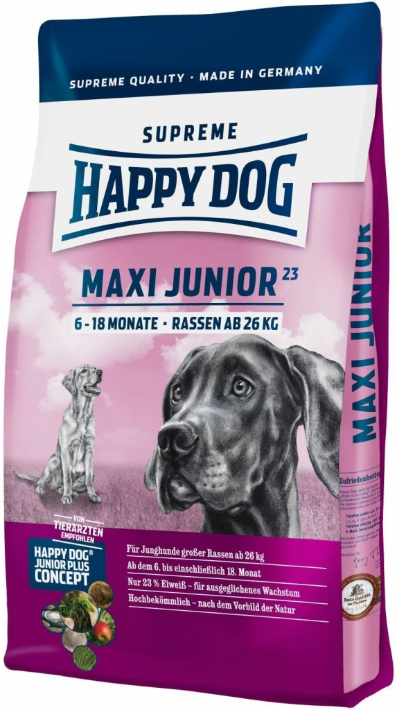 HAPPY DOG SUPREME MAXI Junior GR 23 3x15kg + DOPRAVA ZDARMA+Dental Snacks! (+ SLEVA PO REGISTRACI/PŘIHLÁŠENÍ! ;))