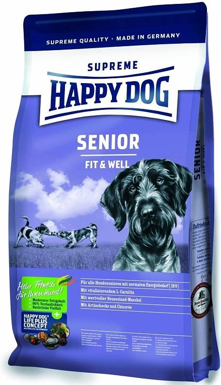 HAPPY DOG SUPREME Fit & Well SENIOR 3x12,5kg + DOPRAVA ZDARMA+Dental Snacks! (+SLEVA PO REGISTRACI/PŘIHLÁŠENÍ! ;))