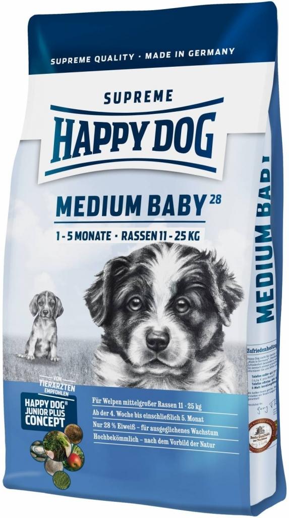 HAPPY DOG SUPREME MEDIUM Baby 28 2x10kg + DOPRAVA ZDARMA+Dental Snacks! (+SLEVA PO REGISTRACI/PŘIHLÁŠENÍ! ;))