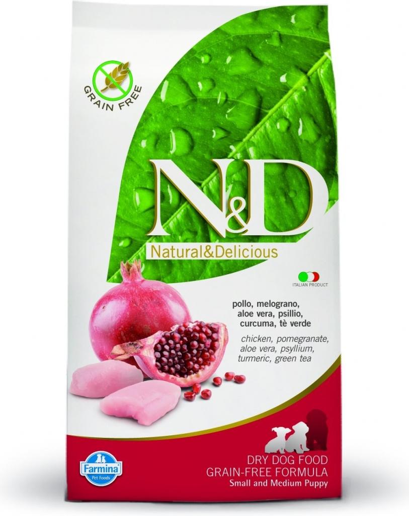 N&D Grain Free Puppy S/M Chicken & Pomegranate 2 x 12 kg