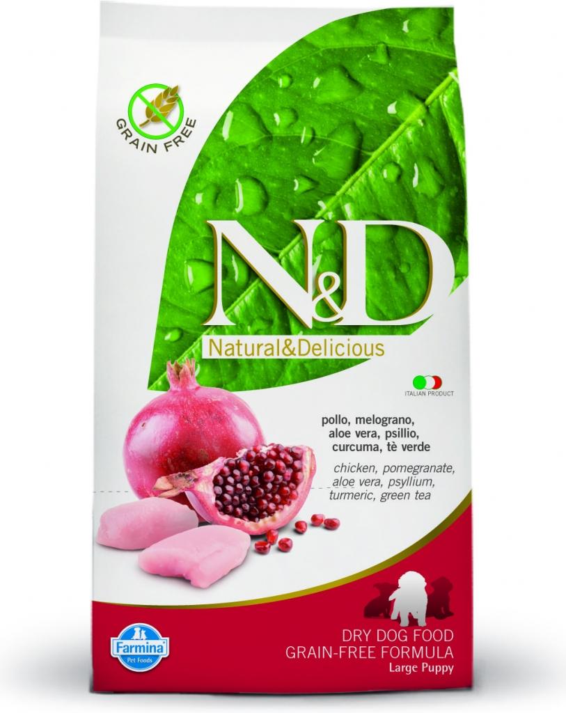 N&D Grain Free Chicken & Pomegranate Puppy Large 2x12kg+DOPRAVA ZDARMA+Snacks! (+2% SLEVA PO REGISTRACI/PŘIHLÁŠENÍ!)