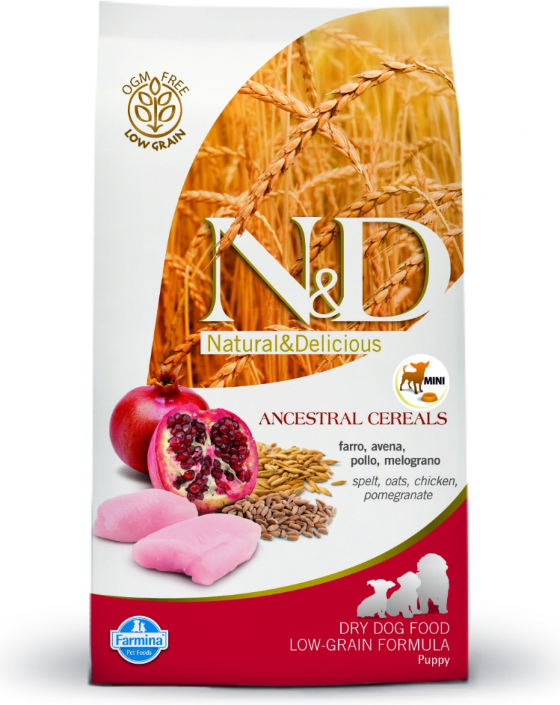 N&D Low Grain Chicken & Pomegranate Puppy Mini 2x12kg+DOPRAVA ZDARMA+Snacks! (+2% SLEVA PO REGISTRACI/PŘIHLÁŠENÍ!)