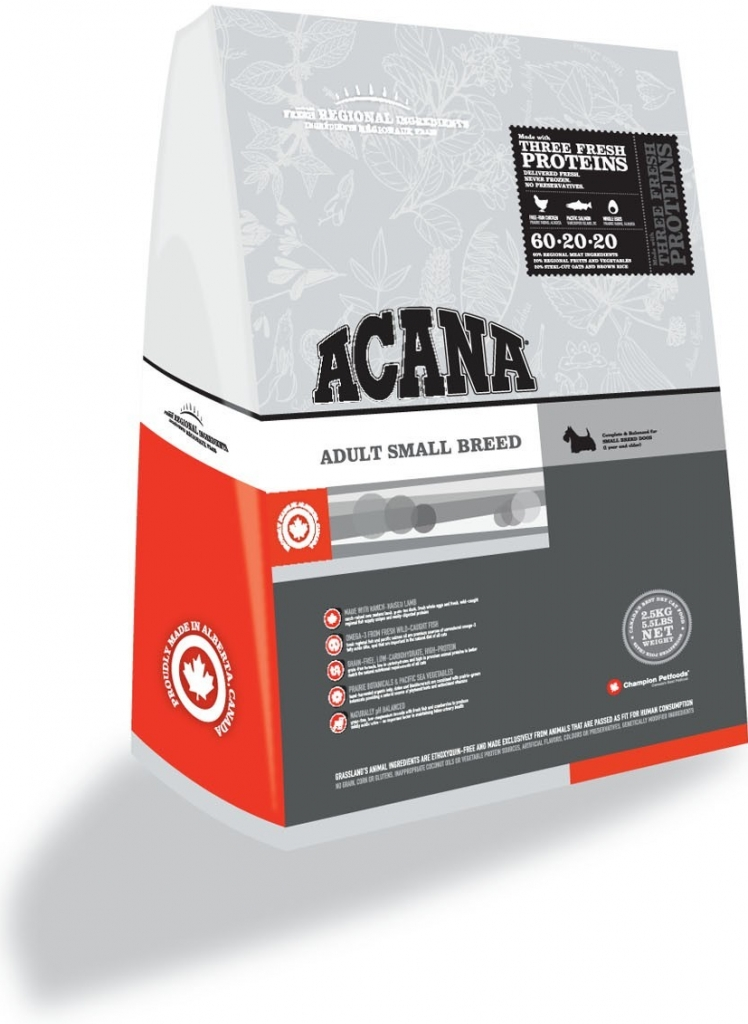 Acana Adult Small Breed 2x6,8kg + Dental Snacks ZDARMA!