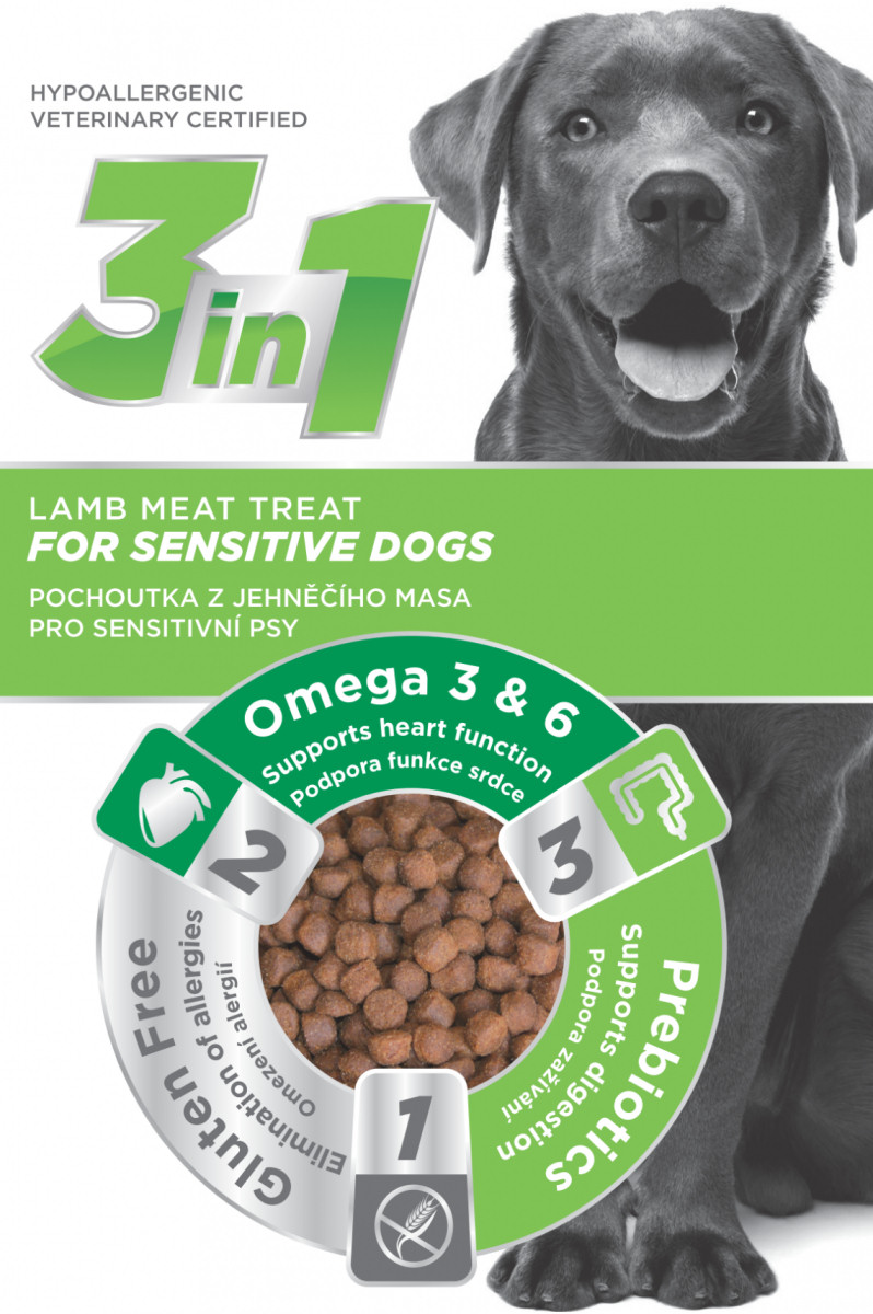 3in1 Lamb for sensitive dogs 20x100g