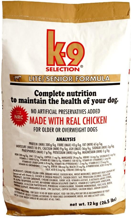 K-9 Selection Lite Senior 20 kg