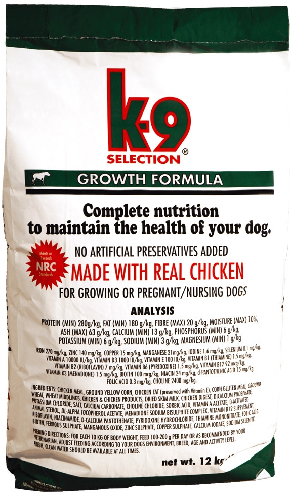 K-9 Selection Growth 2x20kg+DOPRAVA ZDARMA+1x Insecto Bones!