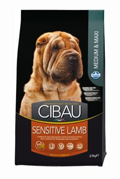 CIBAU Dog Adult Sensitive Lamb & Rice Medium 2x2,5KG