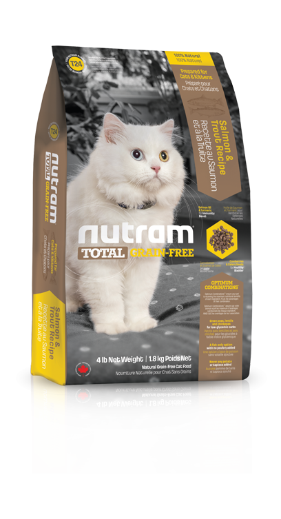 T24 Nutram Total Grain Free Salmon, Trout Cat 1,8kg (+ 2% SLEVA PO REGISTRACI / PŘIHLÁŠENÍ!)